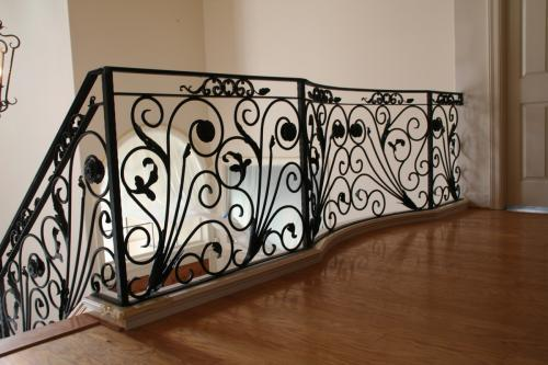 schuvega ironworks staircase railing wrought Iron ornamentle 34