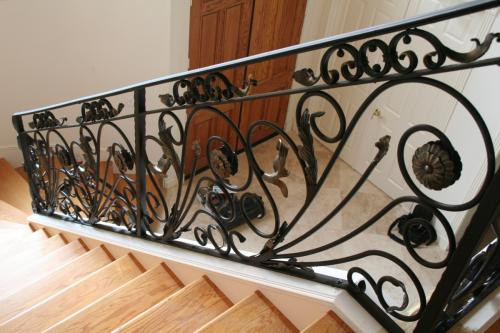 schuvega ironworks staircase railing wrought Iron ornamentle 35
